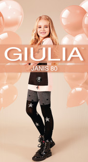 Колготки Giulia Janis (4) 80 Den 140-146 см Dark Grey Melange (4823102965567)