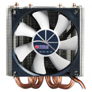 Охолоджувач Cooler for CPU Titan TTC-NC25TZ/PW/V2(RB) універсальний Intel/AMD, 2 heatpipes, PWM, Ultra profile 106 x 95 x 46 мм