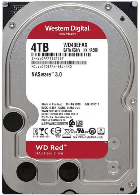 "Жорсткий диск Western Digital Red 4TB 5400rpm 256MB WD40EFAX 3.5"" SATA III - зображення 1"