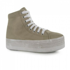 Кеди Jeffrey Campbell Jeffrey Campbell Play Canvas Washed Hi s Natural/White, 38.5 (255 мм) (10726202)