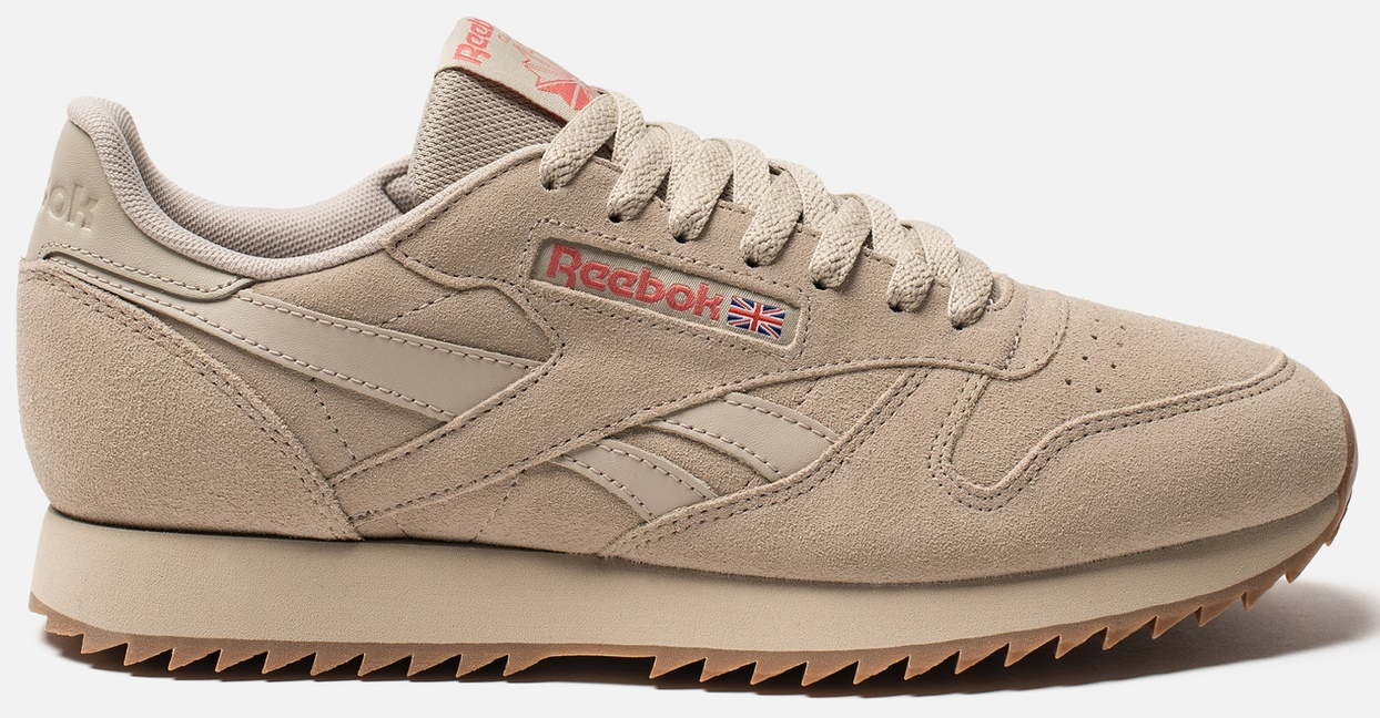 Кроссовки Reebok Cl Leather Mu DV3932 34.5 (4) 23 см Ripple-Light Sand/Rose/Lee