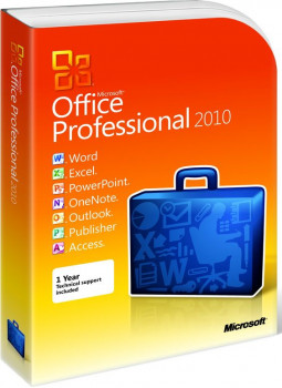 Офисное приложение Microsoft Office Professional 2010 (32/64-bit Russian) BOX PKC (269-14853)