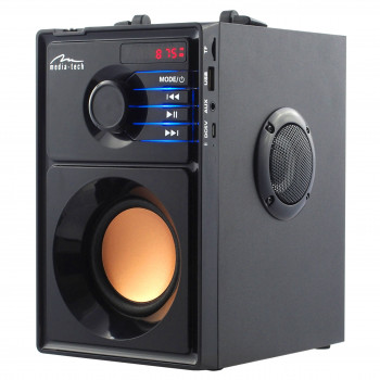 Акустическая система Media-Tech Boombox MT3145 с LED дисплеем и MP3/Bluetooth/USB + пульт ДУ Черный
