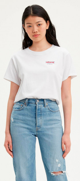 Футболка Levi's Graphic Varsity Tee Cali Box Tab Chest 69973-0076 L (5400816935315) - зображення 1