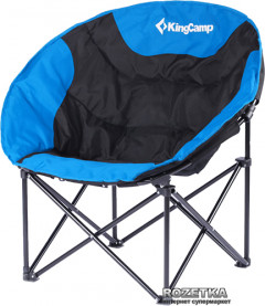Раскладное кресло KingCamp Moon Leisure Chair Black/Blue (KC3816 Black/Blue)