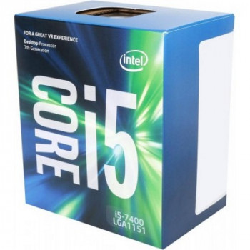 Процесор CPU Core i5-7400 QUAD-CORE 3,00Ghz-3,50GHz(Turbo)/6Mb/14nm/65W Kaby Lake-S (BX80677I57400) s1151 BOX