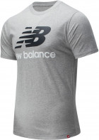 Футболка New Balance Essentials Stacked Logo MT01575AG XXL Серая (193362688365) - изображение 3