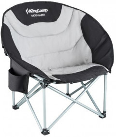 Раскладной стул KingCamp Moon Camping Chair with Cooler Black/grey (KC3989 black/grey)