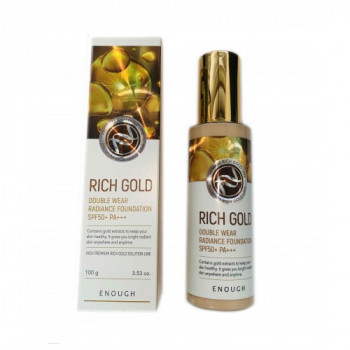 Тональный крем с золотом Enough Rich Gold Double Wear Radiance Foundation SPF50+ PA+++ #21 100мл