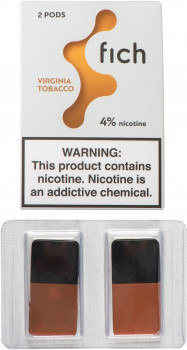 Картридж для POD-систем Fich Pods Virginia Tobacco 4% 40 мг 2 х 0.8 мл (Тютюн + мед) (6971575731078)
