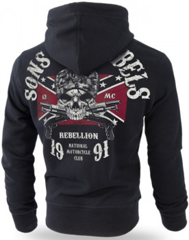 Худі Dobermans Aggressive Sons Of Rebels BK196BK Чорне