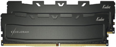 Оперативна пам'ять Exceleram DDR4-2400 16384MB PC4-19200 (Kit of 2x8192) Black Kudos (EKBLACK4162414AD)