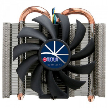 Охолоджувач Cooler for CPU Titan TTC-ND15TB/PW(RB) універсальний , Intel/AMD, 2 heatpipes, PWMб 1U Ultra slim 92 x 88 x 27 мм
