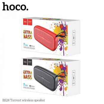 Колонка Bluetooth HOCO BS28 Torrent wireless speaker (metal gray)