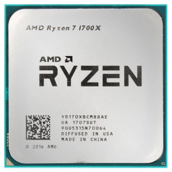 Процессор AMD Ryzen 7 1700X 3.4-3.8 GHz (YD170XBCM88AE) AM4 TRAY