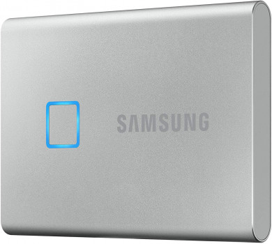 Samsung Portable SSD T7 TOUCH 1TB USB 3.2 Type-C (MU-PC1T0S/WW) External Silver
