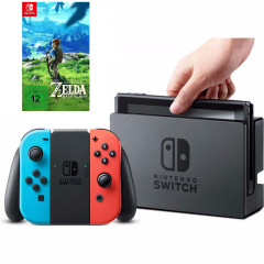 Nintendo Switch Blue Red + Игра The Legend of Zelda Breath of the Wild