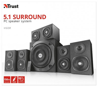 Акустическая система Trust Vigor 5.1 Surround Speaker System for pc Black (TR22236) (WY362104806)