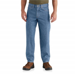 Джинси Carhartt B17 Relaxed Fit Tapered Leg Jeans - Factory Seconds (For Big and Tall Men) Stonewash , 54W 32L (11029508)