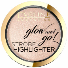 Запеченный хайлайтер для лица Eveline Glow And Go 02 - Gentle Gold 8.5 г (5901761985108)