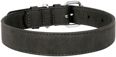 Нашийник Collar Waudog Eco екошкіра металева пряжка 35 мм 46-60 см Сірий (731911)