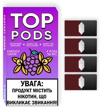 Картридж для Pod систем Top Pods Fantasy Grape 5% 50 мг 4 x 1 мл (Виноград) (TP-FG-5-1)