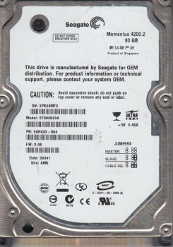 Жорсткий диск Seagate 4200 rpm 8 MB 80GB IDE (ST980829A) Refurbished