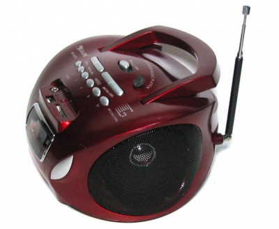 Бумбокс колонка MP3 USB радіо Golon RX 627 Red (1001 002567)