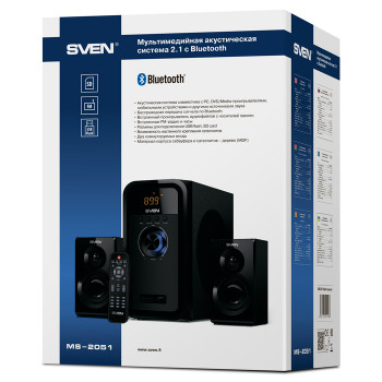 Колонки 2.1 SVEN MS-2051 Bluetooth (USB, SD, FM)