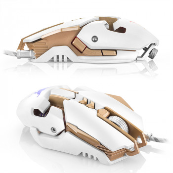 Мышь проводная ONIKUMA COMBATWING CW30 gaming mouse (white)
