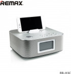 Bluetooth Колонка Remax RB-H3 3 in 1 BT3.0 Speaker with Alarm Clock Silver - зображення 3