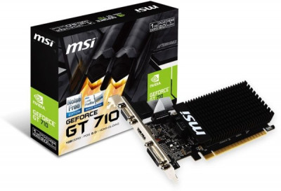 Відеокарта MSI GeForce GT 710 1GB GDDR3 (64bit) (954/1600) (DVI, HDMI, VGA) (GT 710 1GD3H LP)