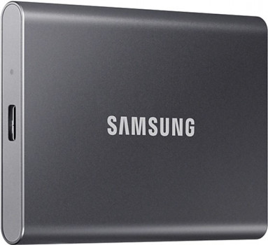 Samsung Portable SSD T7 2TB USB 3.2 Type-C (MU-PC2T0T/WW) External Grey
