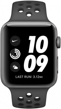 Смарт-годинник Apple Watch Series 3 Nike+ GPS 38 mm Space Gray Aluminum Case with Anthracite/Black Nike Sport Band (MTF12FS/A)
