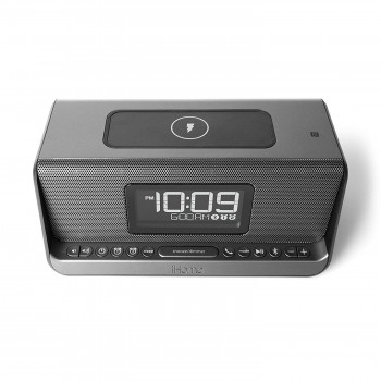 iHome IBN350G, Qi Wireless Charging, BT, NFC, USB, Aux Mic