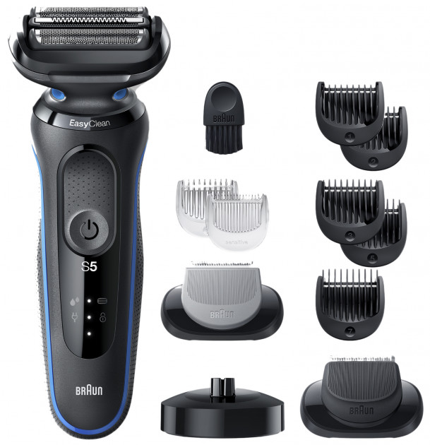 Электробритва-триммер BRAUN Series 5 50-B4650cs BLACK/BLUE - изображение 1