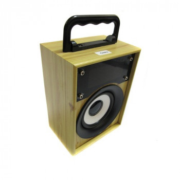 Портативна bluetooth колонка MP3 плеєр KTS-668 Light Wooden
