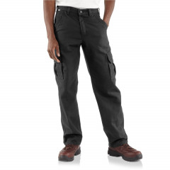 Брюки Carhartt FRB240 Flame-Resistant Canvas Cargo - Factory Seconds Black , 34W 32L (11088007)