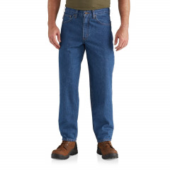 Джинси Carhartt B17 Relaxed Fit Tapered Leg Jeans - Factory Seconds (For Big and Tall Men) Darkstone , 54W 32L (11088200)