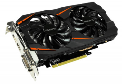 Відеокарта GeForce GTX1060 Gigabyte WINDFORCE OC 3Gb GDDR5 192bit, 2xDVI/HDMI/DP (GV-N1060WF2OC-3GD) Б/У