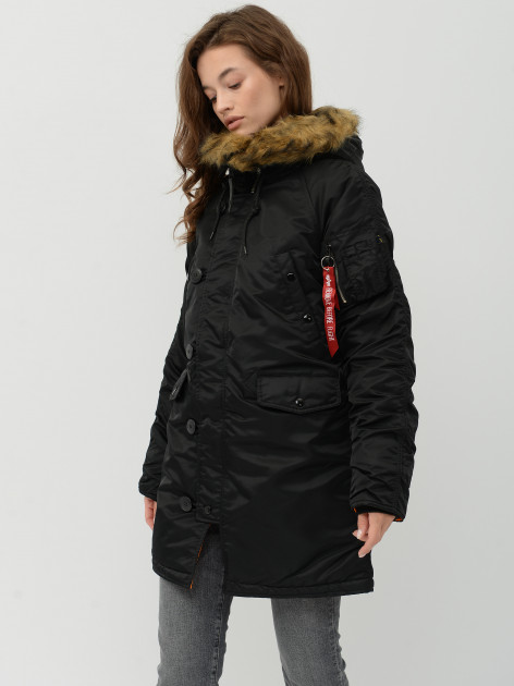 Парка Alpha Industries N-3B W Parka XS Black - изображение 1