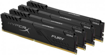 Оперативна пам'ять HyperX DDR4-3200 65536 MB PC4-25600 (Kit of 4x16384) Fury Black (HX432C16FB4K4/64)