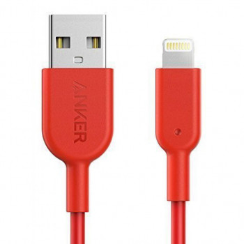 Дата кабель USB 2.0 AM to Lightning 0.9m Powerline II Red Anker (A8432H91)