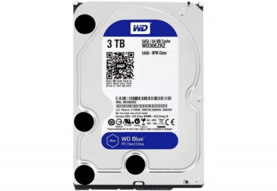 "Жорсткий диск 3.5"" 3Tb Western Digital Blue, SATA3, 64Mb, 5400 rpm (WD30EZRZ)"