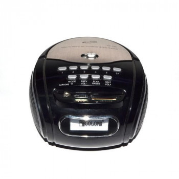 Бумбокс колонка караоке годинник MP3 Golon RX 686Q Black