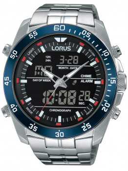 Години Lorus RW623AX9 Analog-Digital Alarm Chronograph 46mm 10ATM