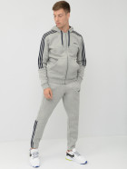 Спортивный костюм Adidas M Fz Ho Jog 3S EI6202 2XL Medium Grey Heather (4061619381795) - изображение 1