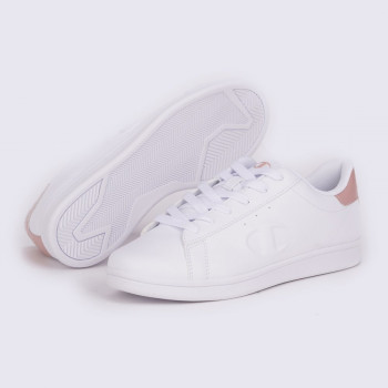Жіночі кеди Champion Low Cut Shoe Andrea Сірий (chaS11183-WHT/PINK)