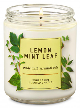 Свічка ароматизована Bath and Body Works Lemon Mint Leaf Scented Candle 198 г