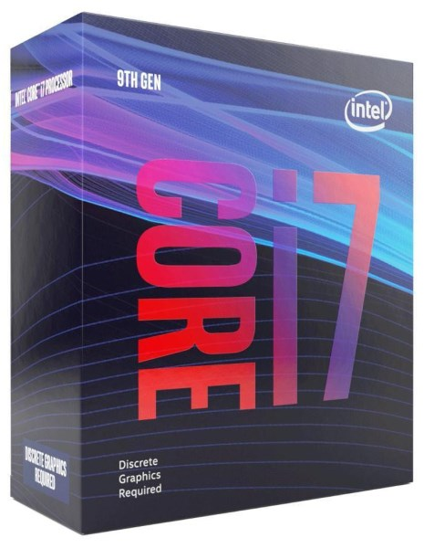 Процесор CPU Core i7-9700F 8 cores 3,00Ghz-4,70Ghz/12Mb/s1151/65W Coffee Lake-S (BX80684I79700F) BOX